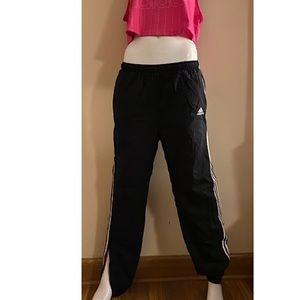Vtg 90s adidas swishy nylon track pants side zip